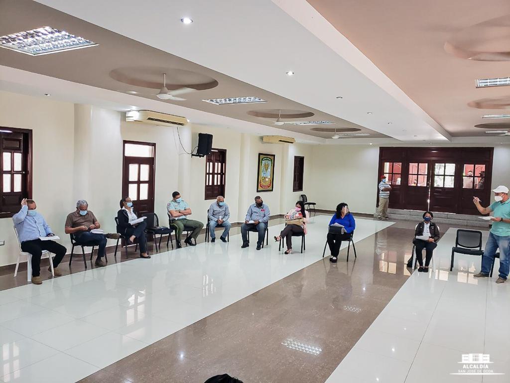 Ayuntamiento de San José de Ocoa realiza el segundo encuentro de la mesa local de seguridad, ciudadanía y género.